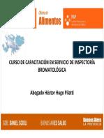 CAPACITACIÓN EN SERVICIO DE INSPECTORIA BROMATOLOGICA