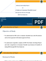 Compatitive Analysis on Consumer Durable Loans with special Ref through IDFC First Bank