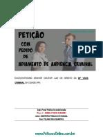 Processo Penal Juntada Atestado Medico Doenca Adiamento Audiencia Peticoes Online