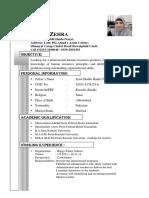 Job Cv Kiran Zehra (Pharma)