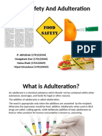 Food Adulteration and Safety