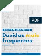 Duvidas frequentes D. administrativo