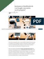 Como aumentamos a classificação do nosso site no Google e em outros mecanismos de pesquisa?