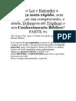 CONHECIMENTO BIBLICO