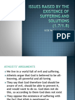 Edexcel Religious Studies 9-1 Issues of suffering and existence of evil