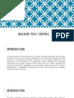 machine tool control