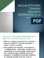 Edexcel Religious Studies Muslim Attitudes Towards Religious Experiences FINAL