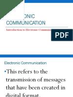 Electronic Communication for CSEC EDPM