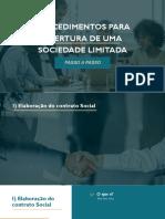 PROCEDIMENTOS PARA ABERTURA DE UMA SOCIEDADE LIMITADA