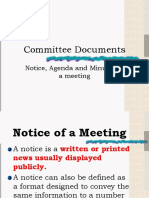 Committee Documents for CSEC EDPM