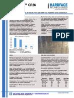 Carboklad Cr36 Data Sheet