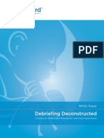 White Paper Primer on Debriefing 2019