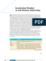 The Hexademical Number System and Memory Addressing