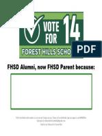 FHSD Alumni FHSD Parent