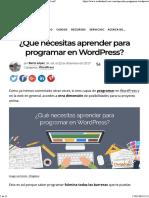 Programar en Wordpress