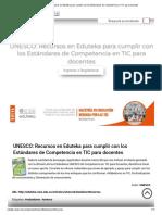 UNESCO_ Recursos en Eduteka Para Cumplir Con Los Estándares de Competencia en TIC Para Docentes
