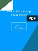 Lesson 2 Worksheet