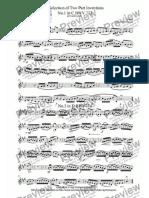 Inventions Bach VlnII