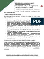 Control de calidad de obras en Bolivia