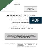 11$Projet de rectification d'un virage et d'aménagement de la traverse de Funtanone – commune de Vignale – RT 20