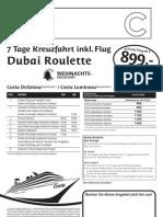 7 Tage Dubai Roulette Weihnachten