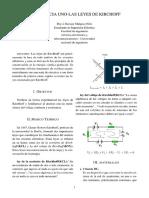 Pre Informe Uno - Laboratorio de circuitos 1
