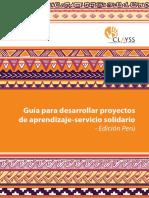 Guía para desarrollar proyectos de aprendizaje servicio solidario