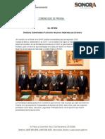 10-09-19 Gestiona Gobernadora Pavlovich Recursos Federales Para Sonora