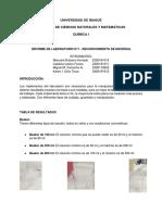 informe #1 quimica