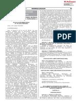 reglamento MVCS Reforzamiento
