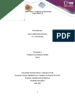 Unidad 1. Paso 3. Análisis de la Información