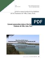 Estado actual de la conservación de los hábitats de los Pantanos de Villa, Lima, Perú
