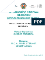 Manual de Prácticas Química Analítica