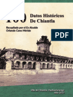 100 Datos Históricos de Chiantla.