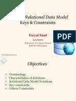 Model, Constraints