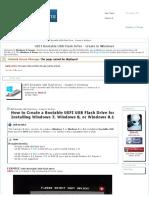 UEFI Bootable USB Flash Drive - Create in Windows