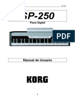 Spanish Manual SP-250 KORG