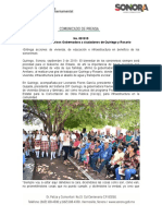 03-09-19 Cumple compromisos Gobernadora a ciudadanos de Quiriego y Rosario