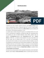 historia de cerro de pasco