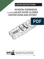 Jackson 20-101M-09 Installation Instructions