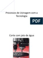 apresentação de processo de usinagem