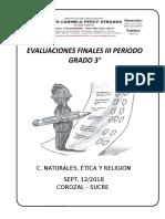 evaluacion final grado 3°