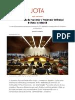 A Necessidade de Se Repensar o Supremo Tribunal Federal No Brasil
