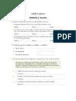 Guía Estadística 7 básico