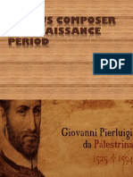 Famous Composers in Renaissance Period PDF