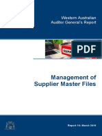 Management of Supplier Master Files