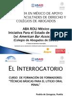 5 Interrogatorio Curso FF Litigio Oral Penal ABA.10 14 de Febrero Puebla