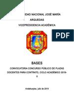 Bases Para Contrato Docentes Reglamento y Gronograma Ultimo