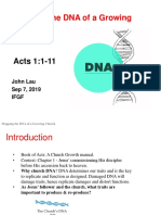 Mapping a Healthy Church DNA