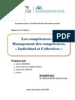 Les Compétences Du Management Des Compétences. Individuel Et Collectives